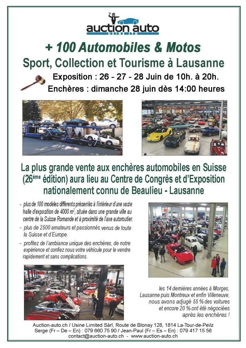 Auction Auto - Beaulieu - 26-27-28 juin 2020